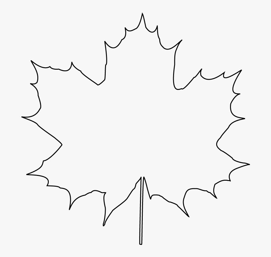 Maple Leaf Graphic - Line Art, Transparent Clipart