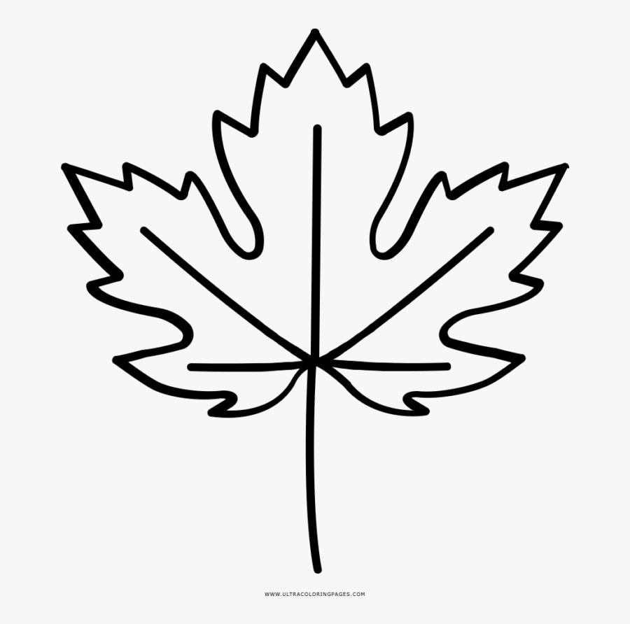 Fall Leaf Outline Transparent, Transparent Clipart