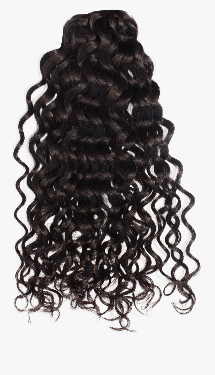 Tumblr Liked On Polyvore - Black Curly Hair Png, Transparent Clipart