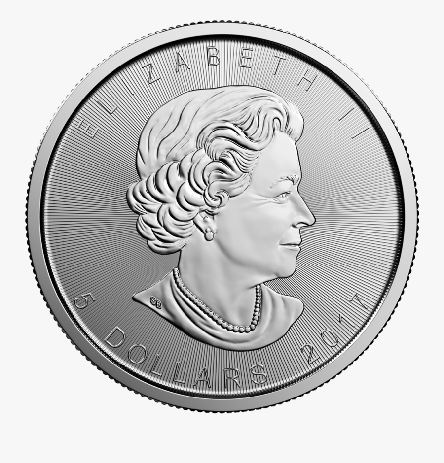 2017 1 Oz Canadian Silver Maple Leaf - Canadian Silver Coin Png, Transparent Clipart