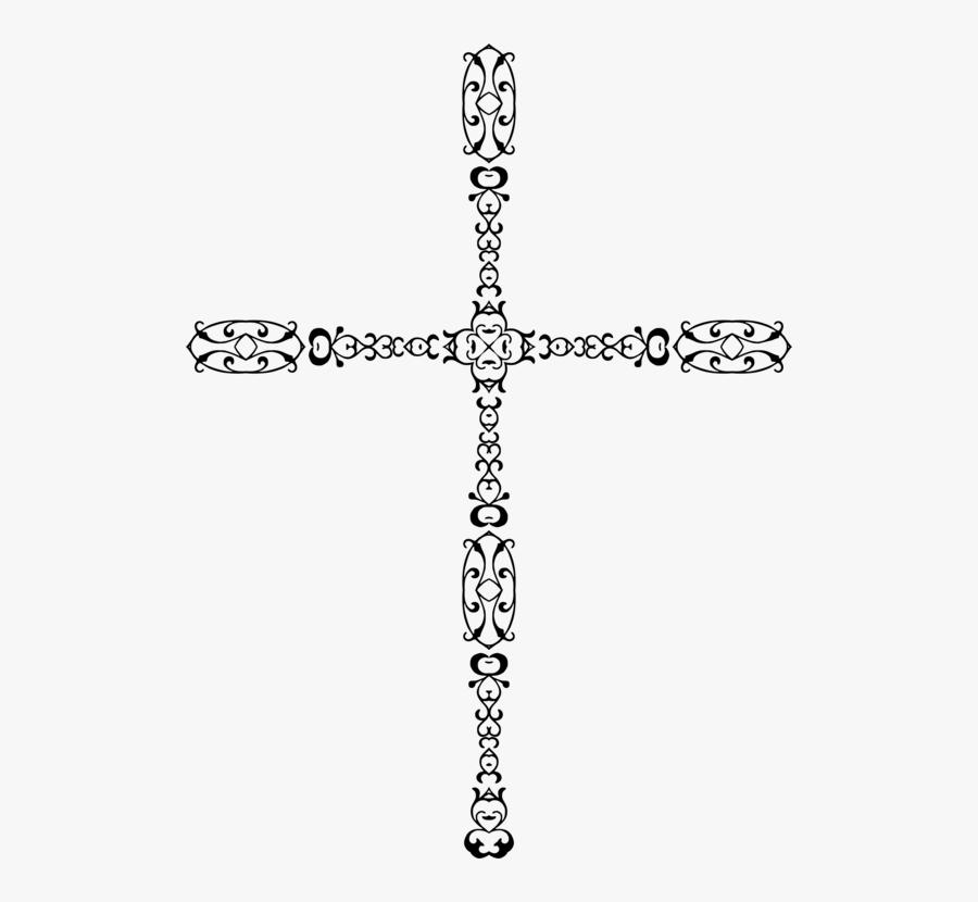 Neck,area,body Jewelry - Cross, Transparent Clipart