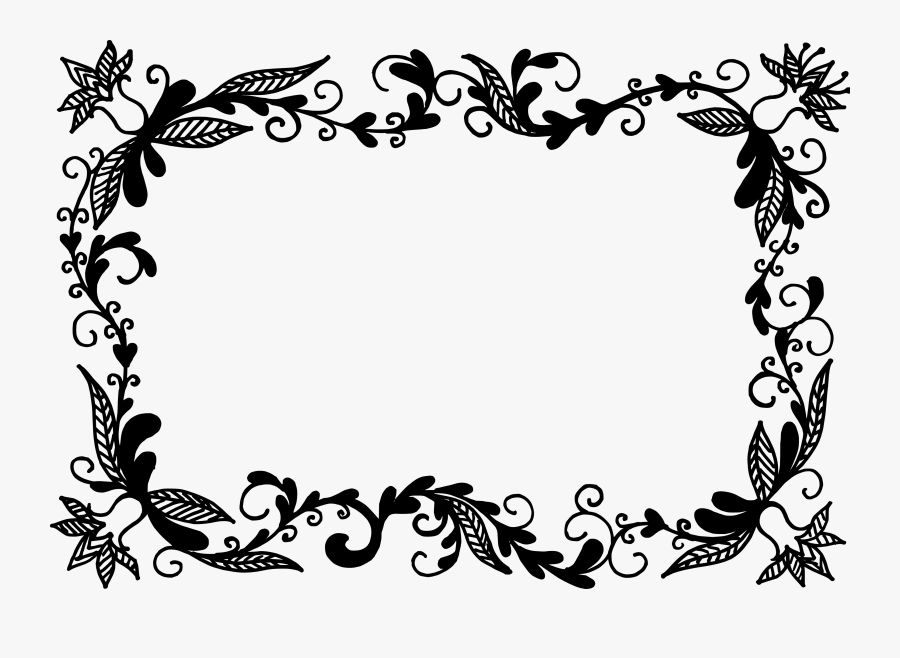 Picture Frames Flower - Border Flower Vector Png, Transparent Clipart