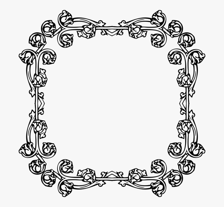 Picture Frame,line Art,area - Picture Frame, Transparent Clipart