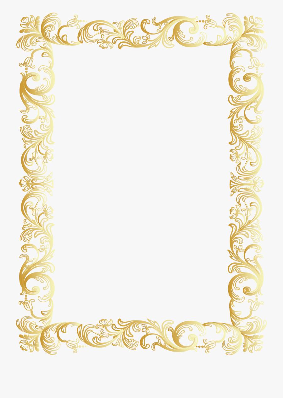 Vintage Border Frame Clip Art Png Image Gallery Yoville - Vintage Gold Border Png, Transparent Clipart