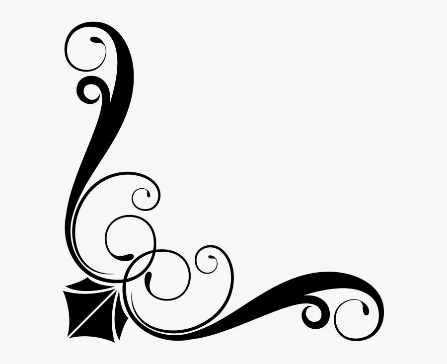 Victorian, Art Deco, Corner, Border, Frame, Floral - Border Png Corner Simple, Transparent Clipart