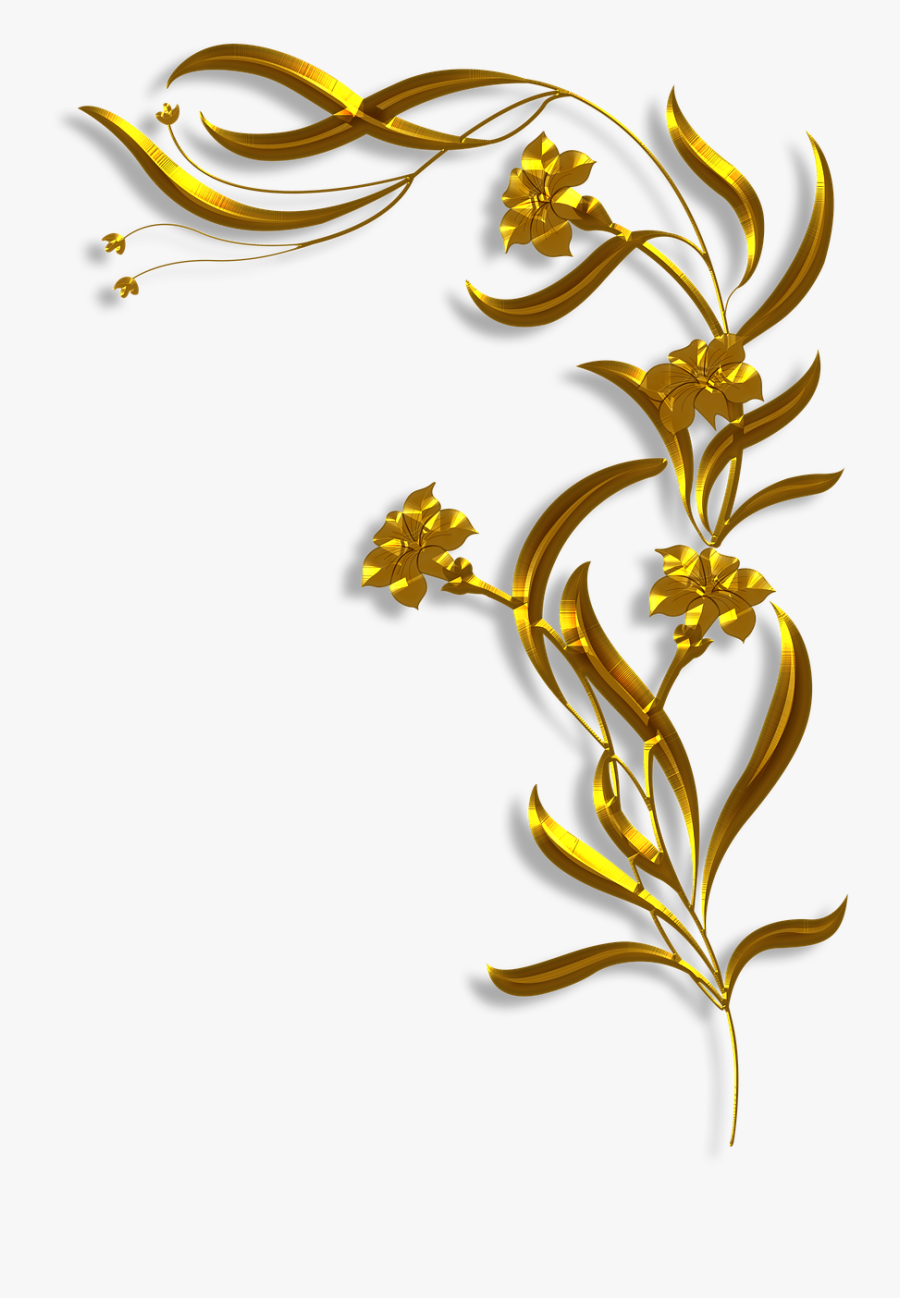 Victorian Art Deco Corner Free Picture - Corner Art Nouveau Borders, Transparent Clipart