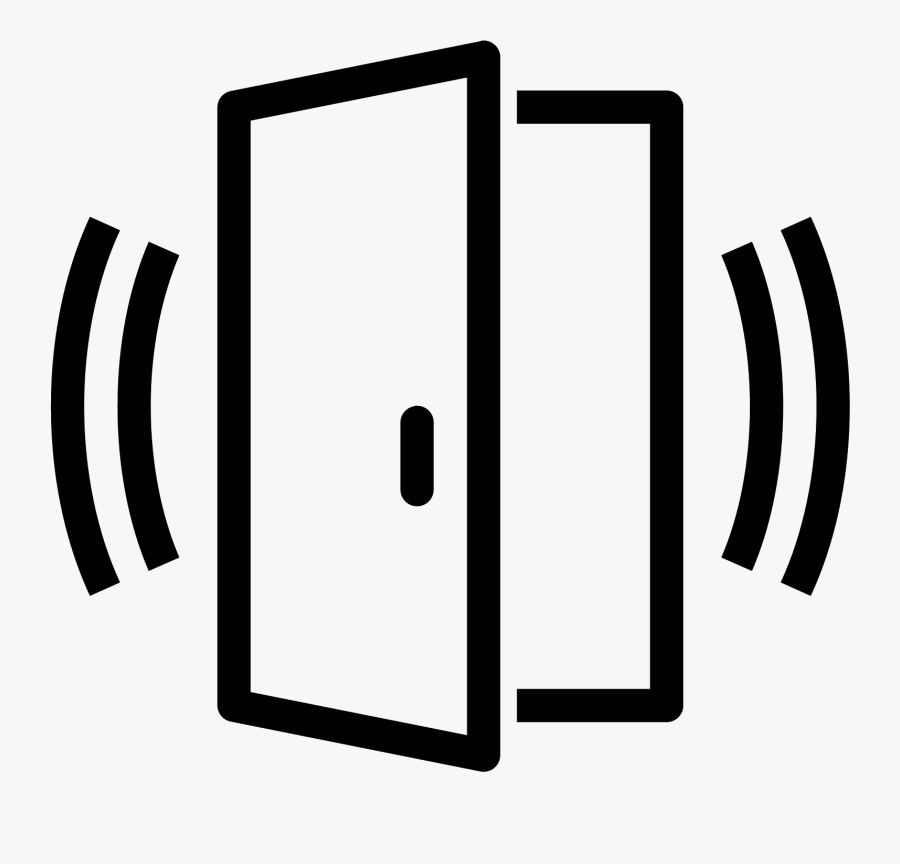 Door Sensor Alarmed Icon - Door Open Sensor Icon, Transparent Clipart