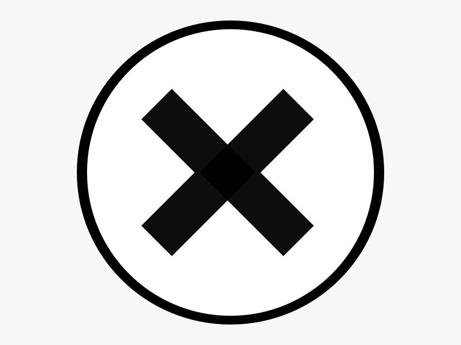 Close Svg Clip Arts - Circle With X Mark, Transparent Clipart