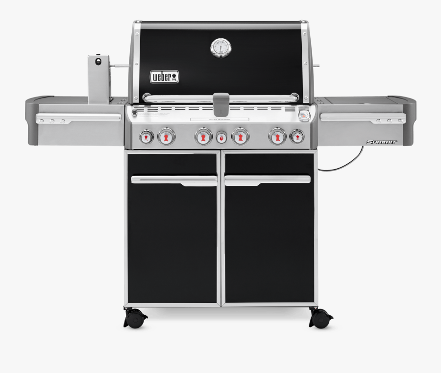 Bbq Grill Png Black And White - Weber Summit E 470 Gas Grill, Transparent Clipart