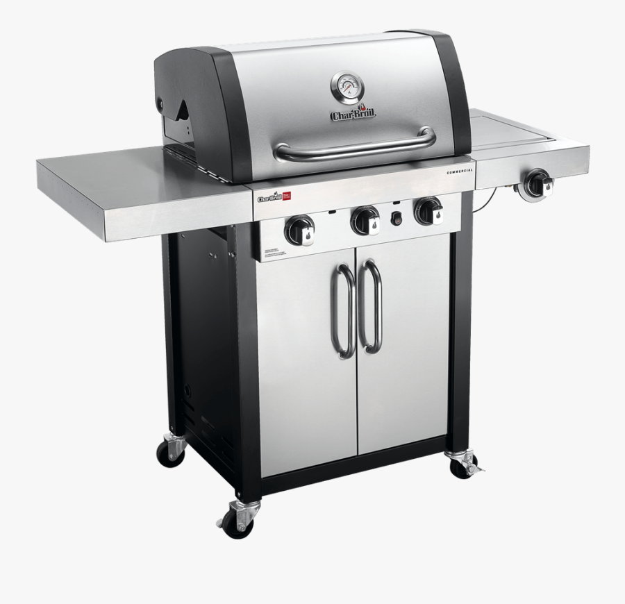 Char Broil Commercial Burner Gas Grill - Char Broil Professional 3, Transparent Clipart