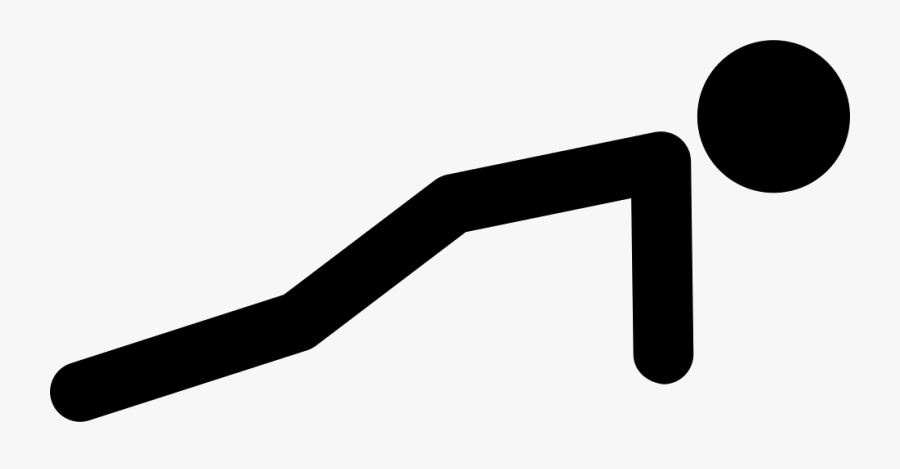 Stick Man Variant Doing - Stickman Doing Push Ups, Transparent Clipart