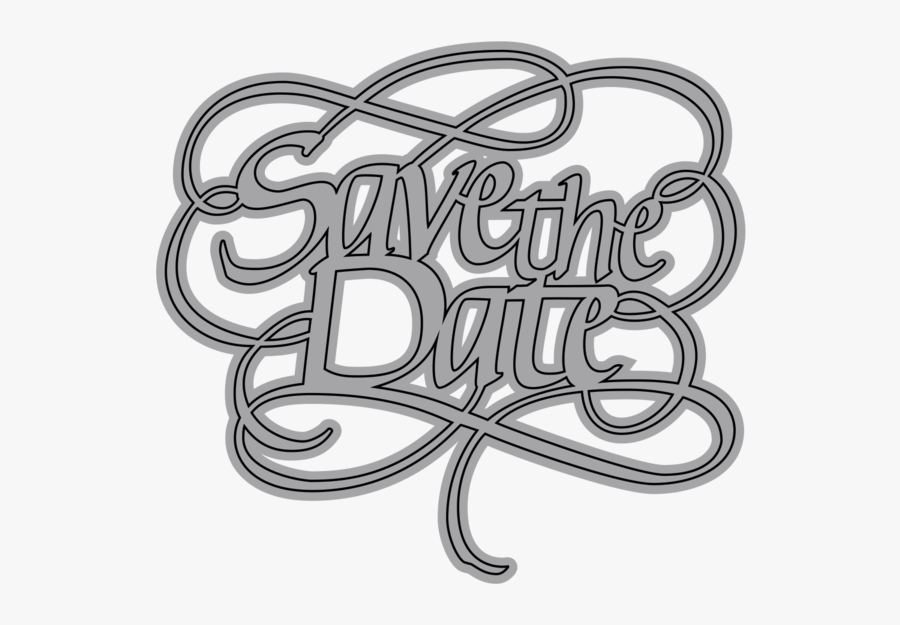 Clip Art A Way With Elizabethcraftdesigns - Save The Date Words Png, Transparent Clipart