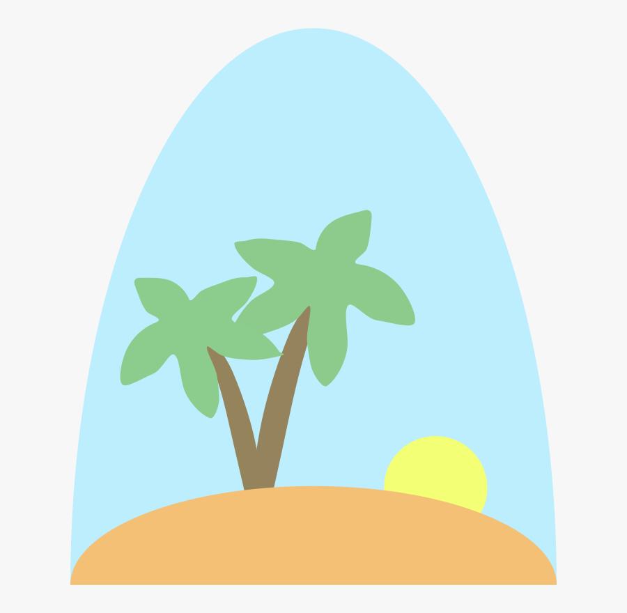 Plant,leaf,sky - Island Vector Clip Art, Transparent Clipart