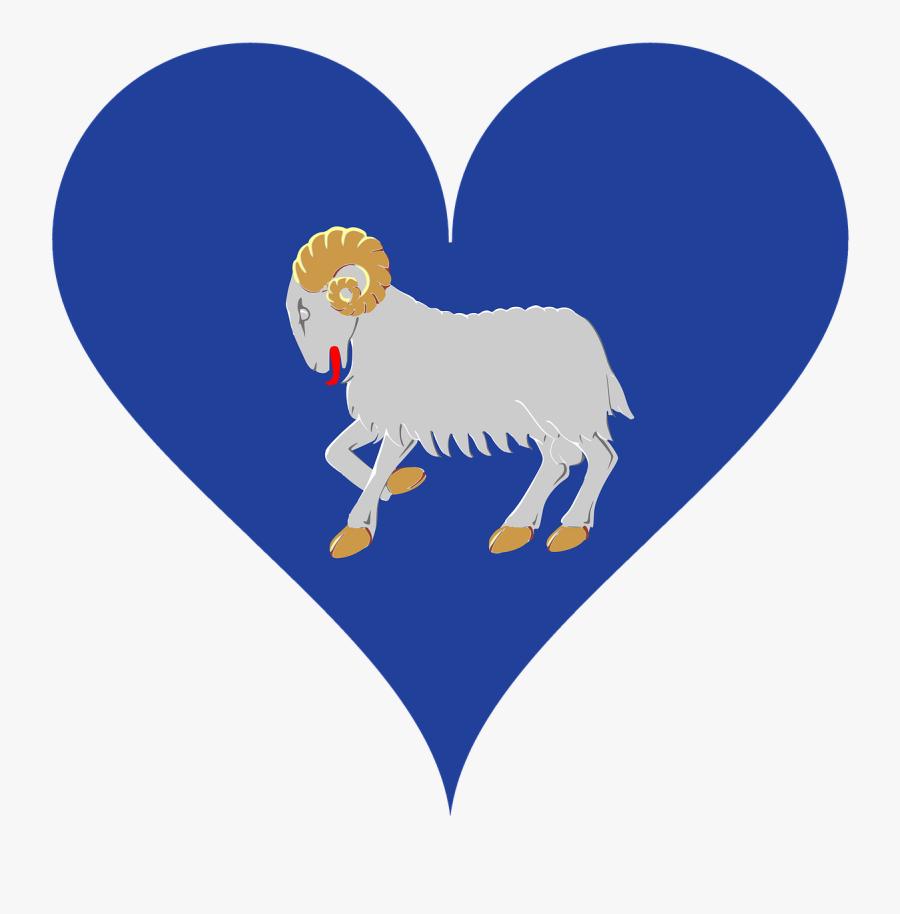 "Island, Färöer, Sheep""s Islands, Love, Heart - Coat Of Arms Of The Faroe Islands, Transparent Clipart"