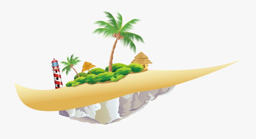 Islands Resort Illustration Beach Material - Tropical Islands Cartoon, Transparent Clipart