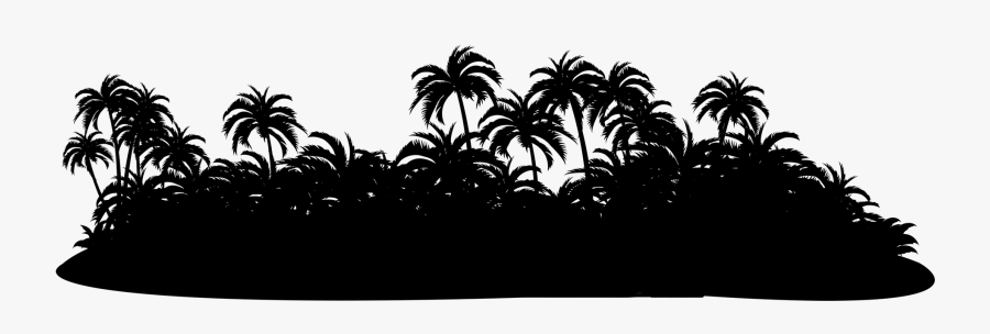 Transparent Island Silhouette Png - Palm Tree Island Silhouette Png, Transparent Clipart