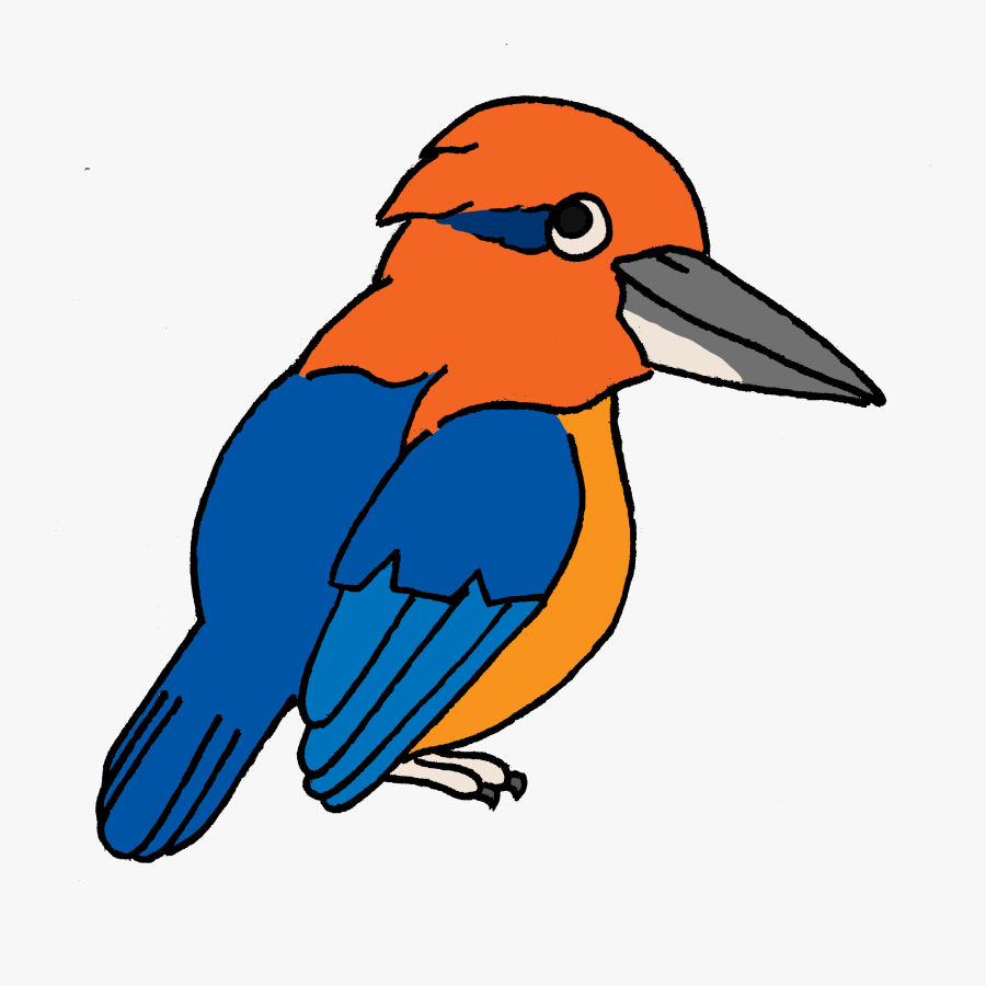 Endangered Island Dweller - Kingfisher Cartoon Png, Transparent Clipart