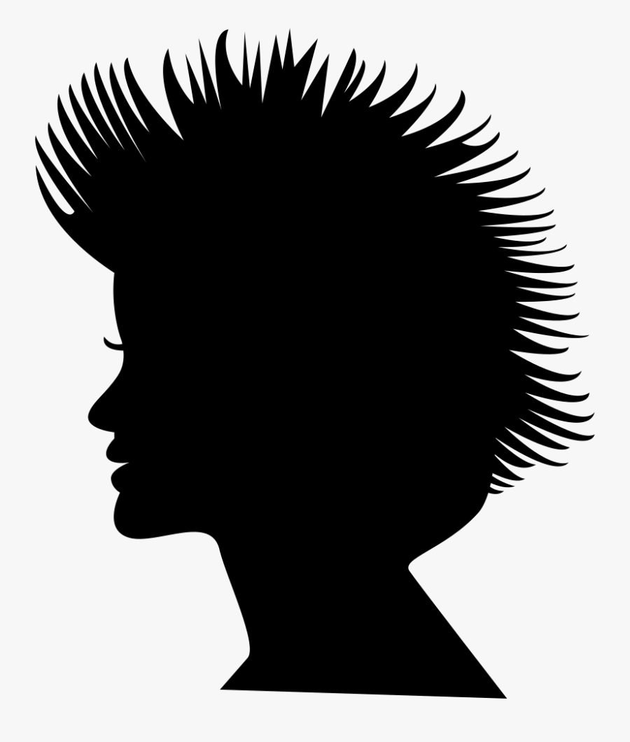Short Hair On Female Head Silhouette Comments - Side View Silhouette Faces Free, Transparent Clipart