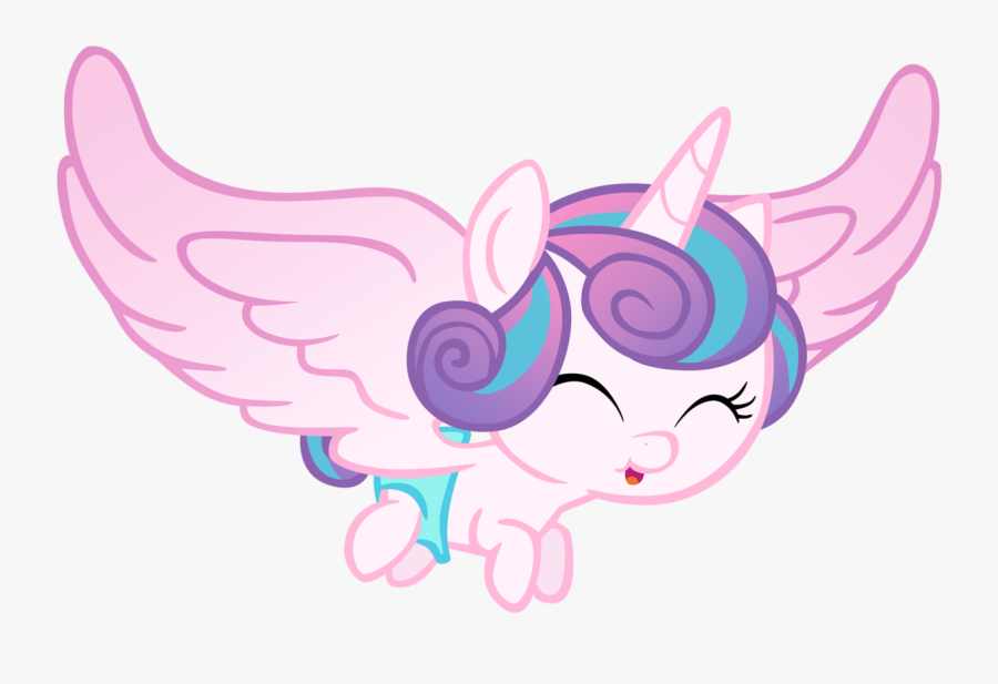 Transparent Diaper Clipart Png - My Little Pony Flurry Heart Flying, Transparent Clipart