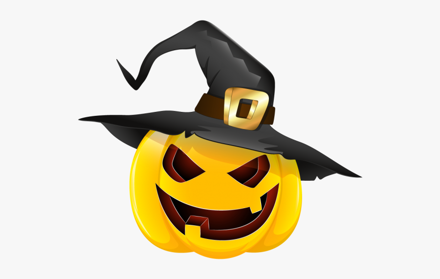 Halloween Witch Hat Clipart 3 Nice Clip Art Halloween Pumpkin With Hat Free Transparent Clipart Clipartkey