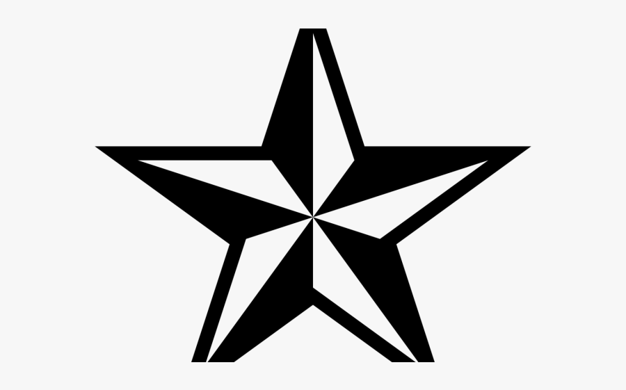 Army Clipart Black And White - Black And White Star Free Clip Art, Transparent Clipart