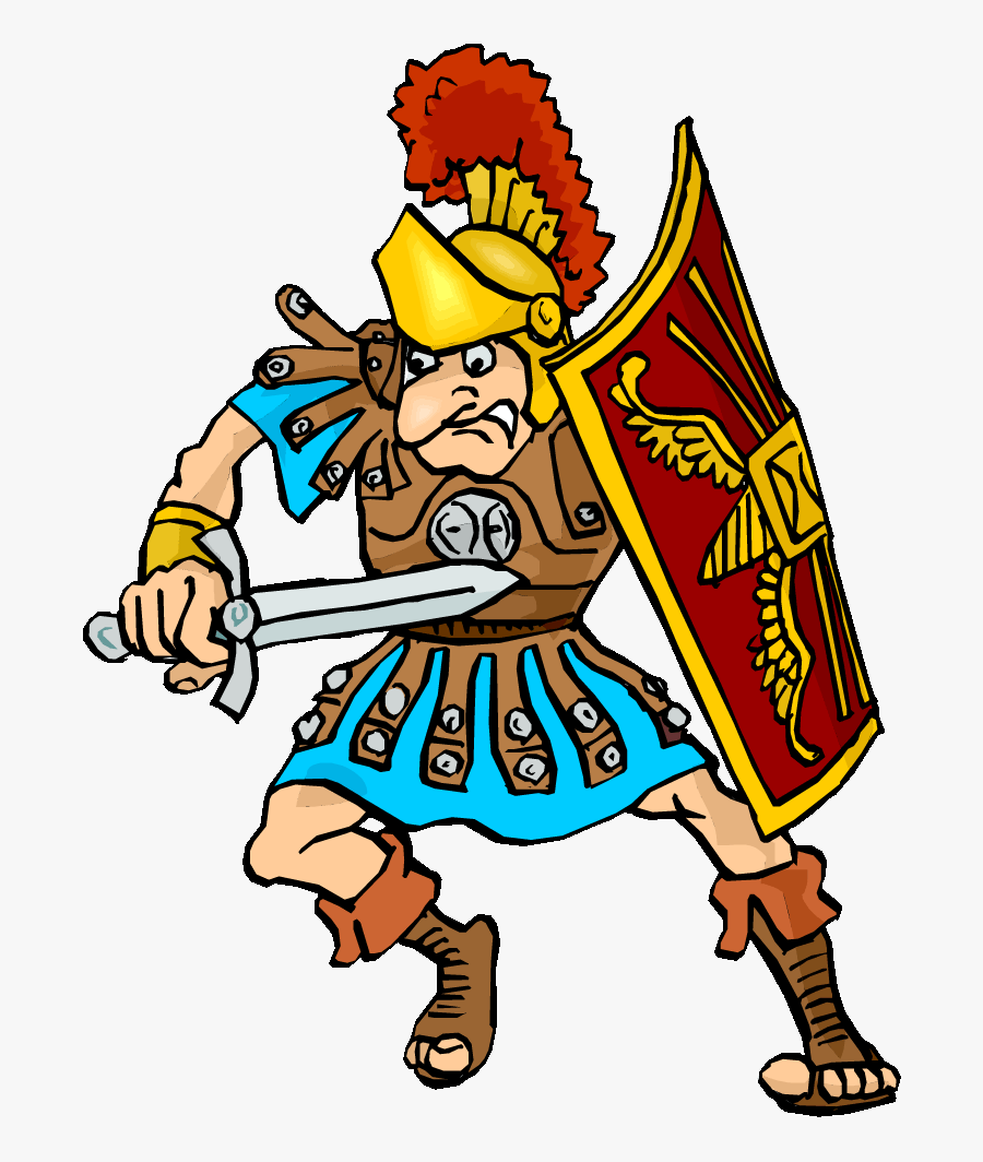 Roman Warriors Clipart Roman Person - Cartoon Ancient Rome Gif, Transparent Clipart