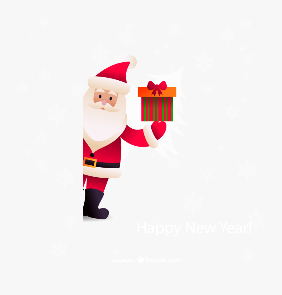 Santa Claus Christmas New Years Day - Background Gift Christmas Png, Transparent Clipart