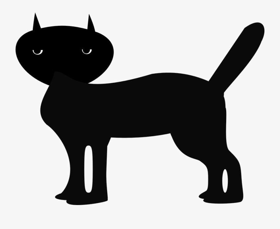 Black Cat, Animal, Feline, Tabby, Evil, Cartoon, Kitten - Hình Con Vật Đen Trắng, Transparent Clipart
