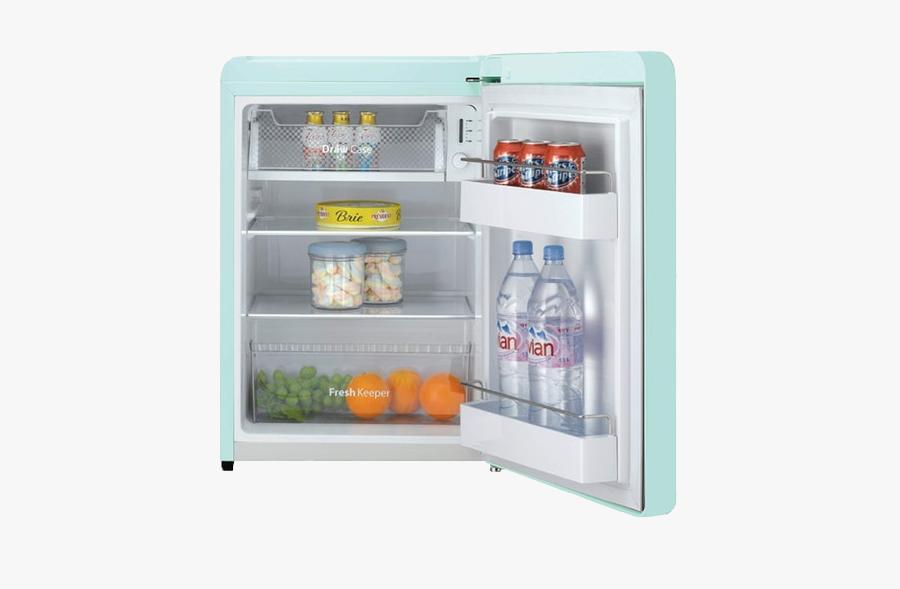 #minifridge #fridge #refrigerator #pngs #png #lovely - Daewoo Fn 102c Retro Style Refrigerator, Transparent Clipart