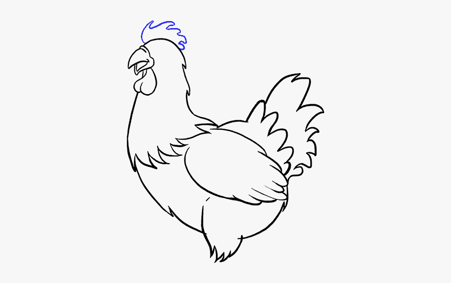 Clip Art Chicken Wing Drawings - Chicken Head Drawing Easy, Transparent Clipart