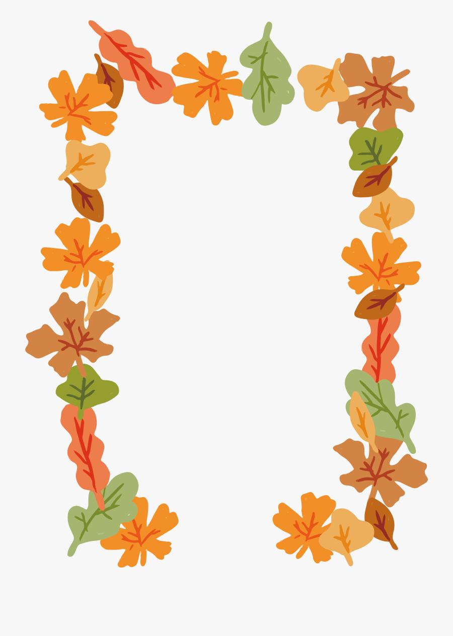 Leaf Euclidean Computer File Cartoon Decorative Frame - Cartoon Leaf Frame Png, Transparent Clipart
