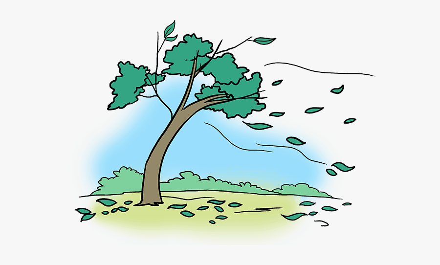 How To Draw Falling Leaves - Falling Leaf From Tree Drawing, Transparent Clipart