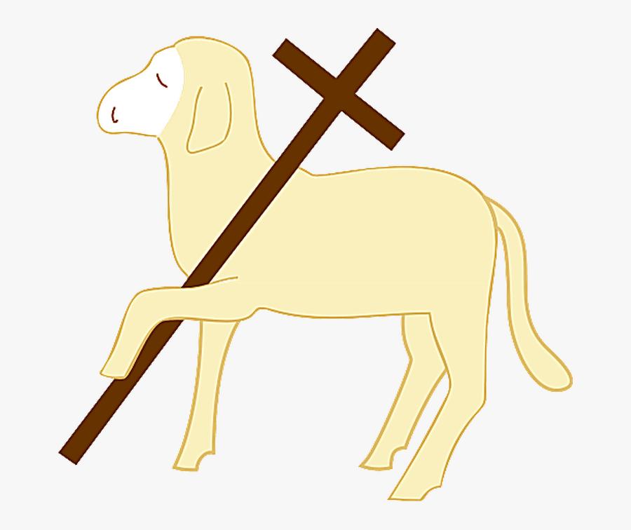 Christian Symbols Lamb Gold, Transparent Clipart