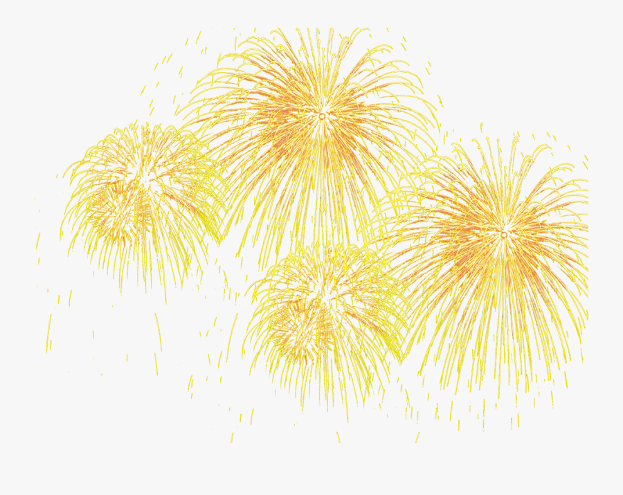 Transparent New Years Fireworks Clipart - Fogos Artificio Png, Transparent Clipart