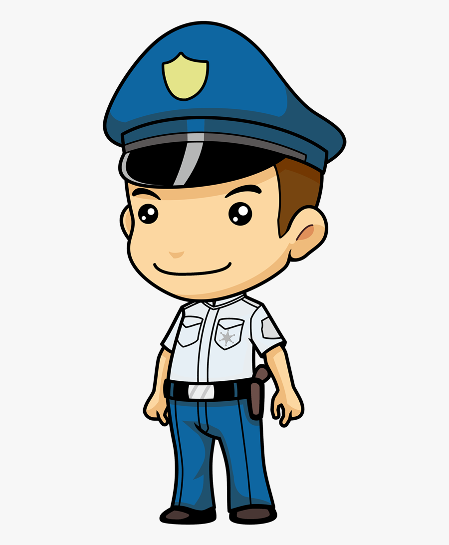 Free Cartoon Police Officer Clip Art - Police Officer Clip Art Transparent, Transparent Clipart