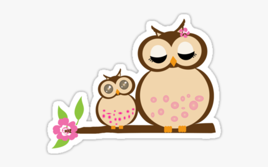 Cartoon Baby Owl Cartoon Mommy And Baby Free Transparent Clipart Clipartkey