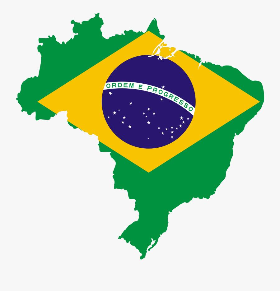 Brazil Clipart - Brazil Flag Shape, Transparent Clipart