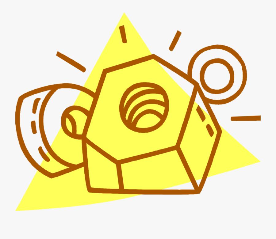 Vector Illustration Of Nut And Bolt Threaded Fastener, Transparent Clipart