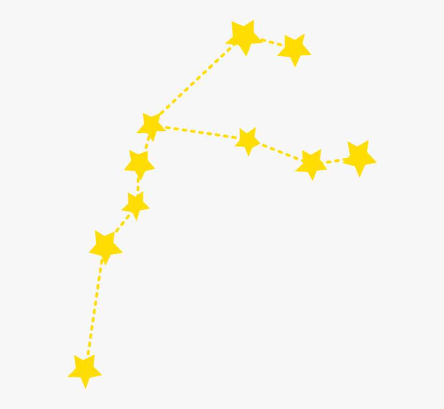 Tree,leaf,symmetry - Star Constellation Clip Art, Transparent Clipart