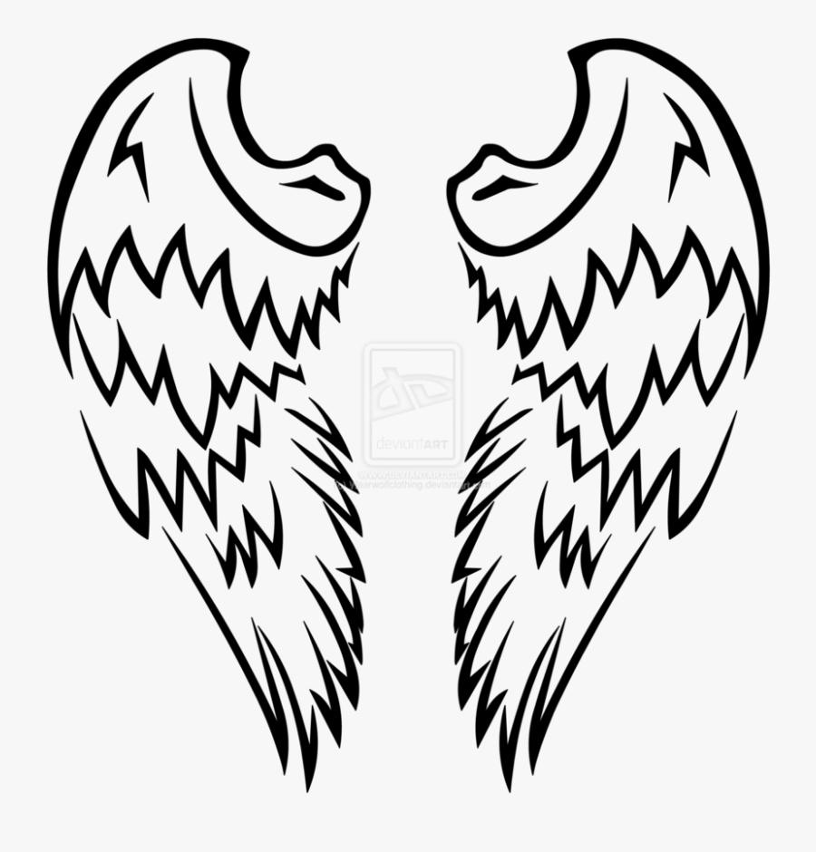 Vector Free Download Clipart Angel Wing Graphics - Angel Wings Henna Tattoo, Transparent Clipart