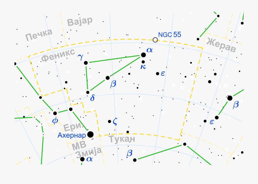Clip Art File Map Mk Svg - Phoenix Constellation Stars, Transparent Clipart