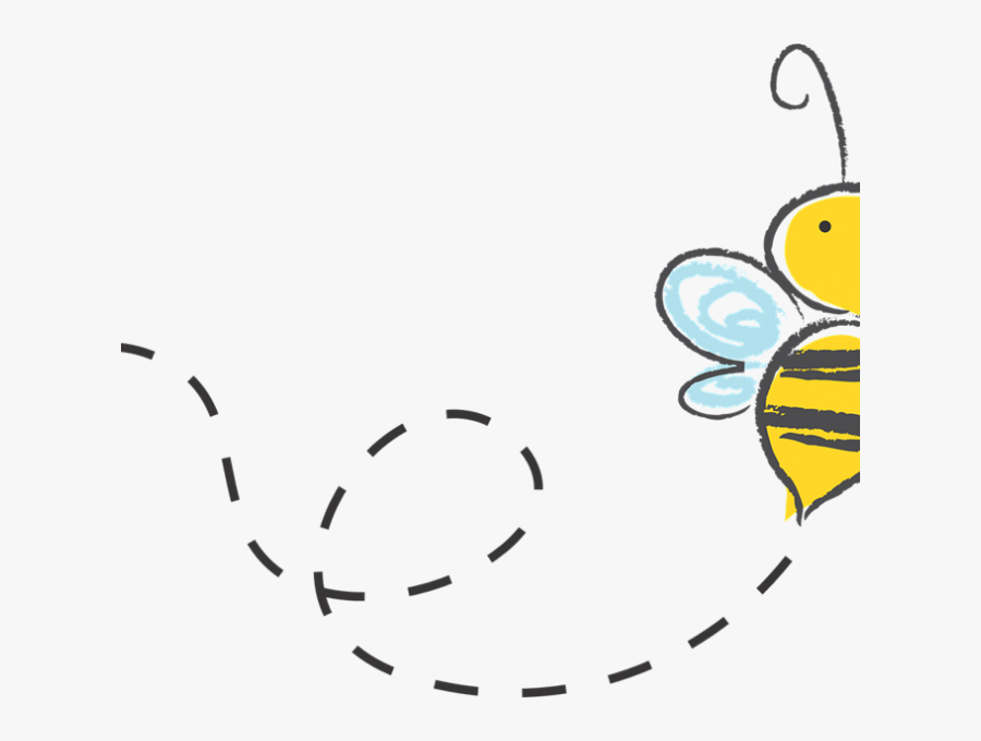 Transparent Honeycomb Clipart - Flying Bee Clipart Png, Transparent Clipart
