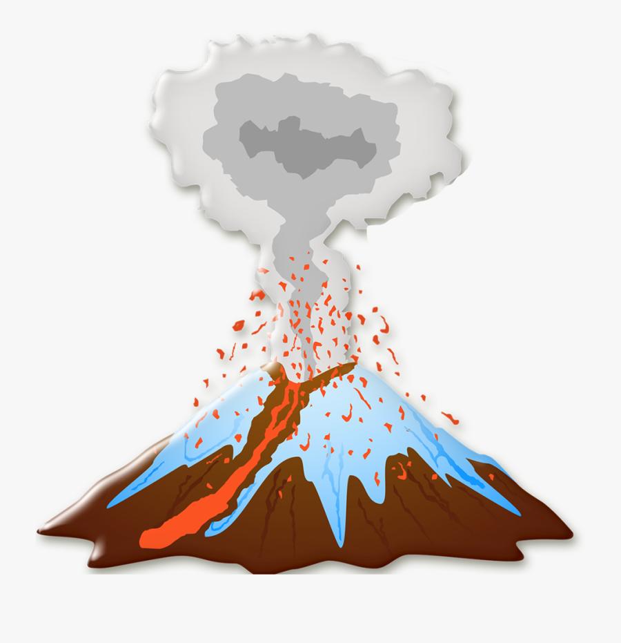 Pré-história E Místicos Etc - Volcano Erupting Icon, Transparent Clipart