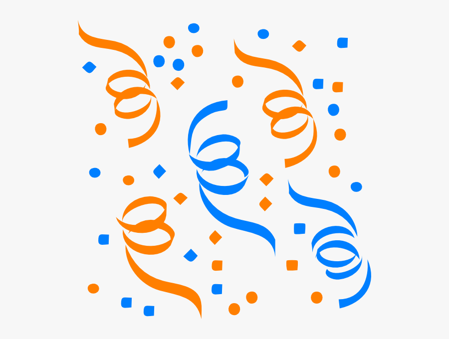 Confetti Svg Clip Arts - Confetti Clipart Blue And Orange, Transparent Clipart