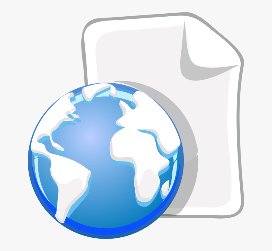 Free Vector Globe Paper World Earth Clip Art - Transparent Internet Clip Art, Transparent Clipart