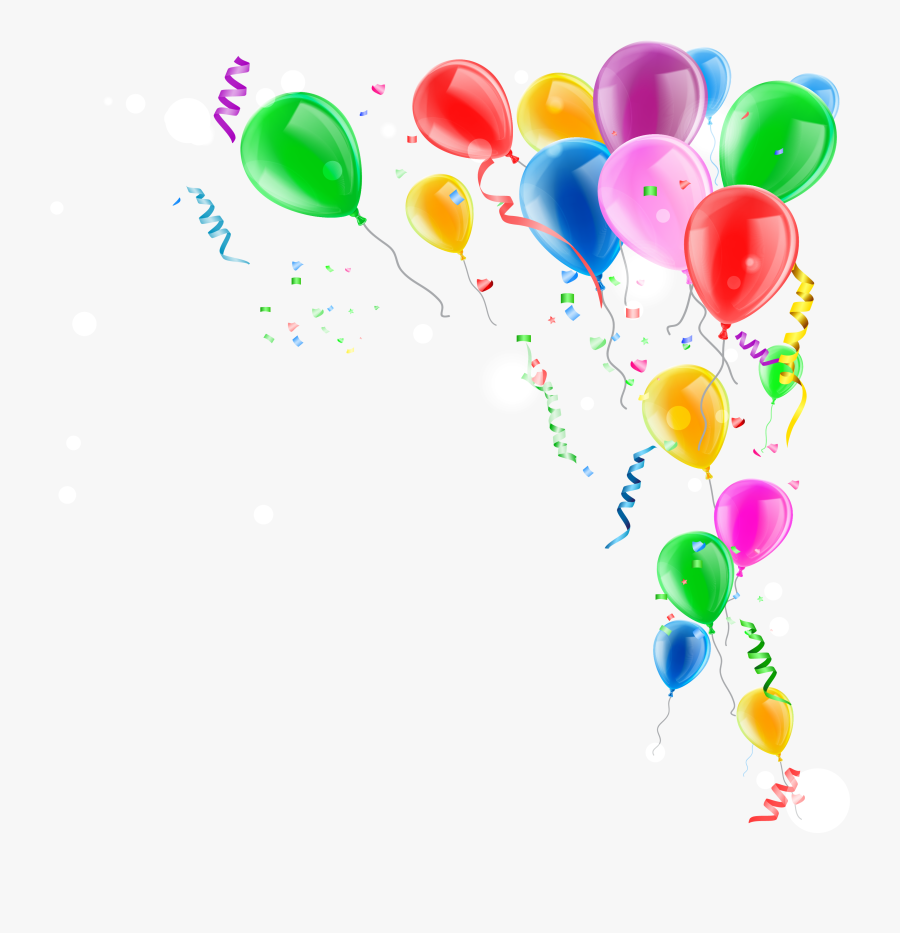 Toy Balloon Confetti - Balloons With Confetti Png, Transparent Clipart