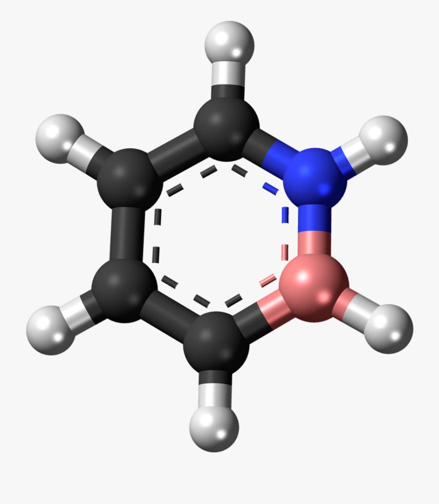 Dihydro Azaborine Heterocycle, Science Technology Clipart - 1 3 5 Triazine 3d, Transparent Clipart