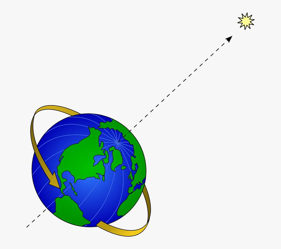 Earth Clip Art Clipart Earth Clip Art - Polaris Earth Rotation Axis, Transparent Clipart