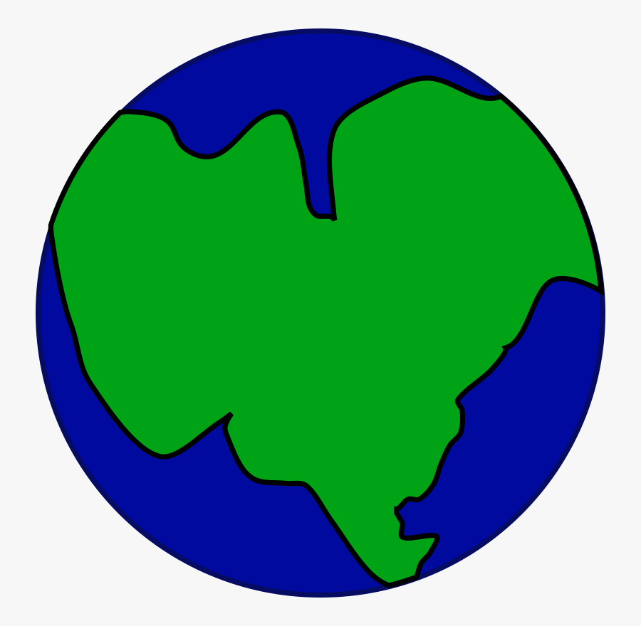 Earth As One Big Continent, Transparent Clipart