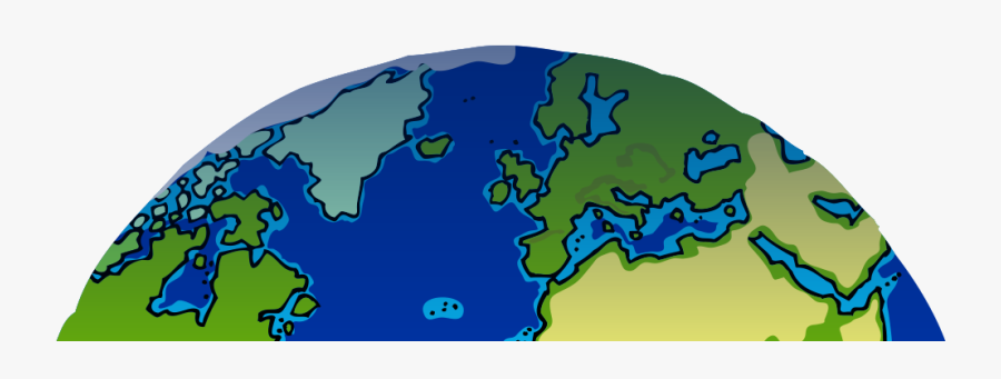 Clipart Earth Half - Half Of The Earth Clipart, Transparent Clipart